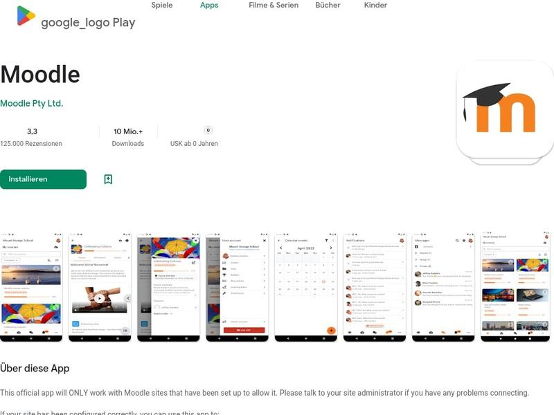 Screenshot von https://play.google.com/store/apps/details?id=com.moodle.moodlemobile&hl=de